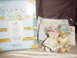 """Cherished Teddies Collectible Figurine By Enesco Tess And Friend """"Things Do Not  - $17.81"""