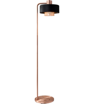 Adesso 6049-20 Floor Lamps Black and Brushed Copper Metal Bradbury - $200.00