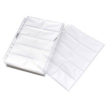 Business Card Pages Double Sided 20 Page Economy 11 Hole Protectors Box ... - $21.26