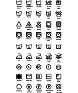 Laundry Room Sign - symbols with the meanings in English - instant download - $7.00