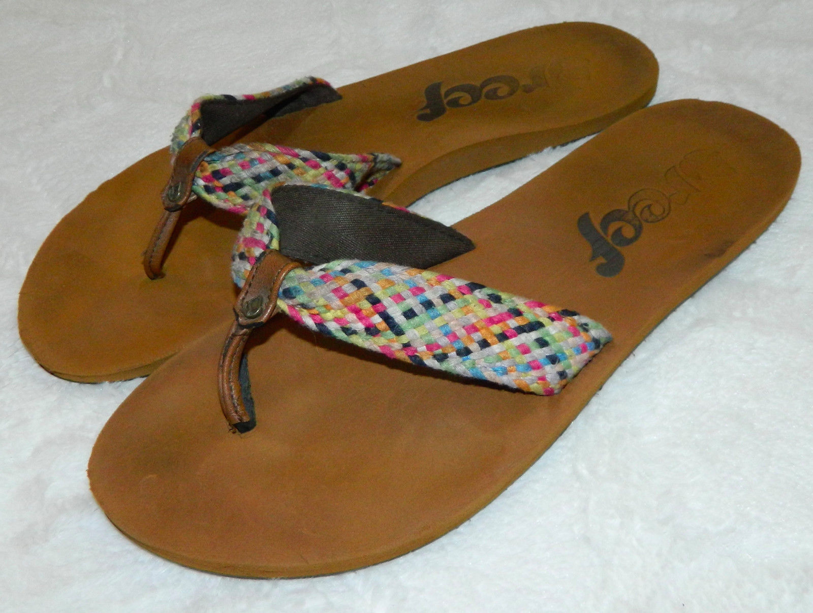 f49fdcc04 Reef Womens 11 Flip Flops Thongs Braided and 50 similar items. 57