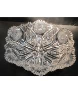 ABP Crystal Cut Glass rectangle  Bowl - $275.48