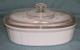 Corning Ware FRENCH WHITE F-2-B 2.8 L Oval Casserole Dish w/PYREX DC 1 1... - $16.95