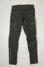 J Brand Cargo Jeans West Point Olive Green USA Women Sz 24 Ankle - $43.99