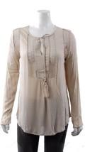 Joseph A Womens Crinkle Blouse Mesh Long sleeve Bohemian Tunic LOOSE FIT... - $11.99
