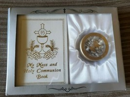 My First Holy Communion Boy Set Mass Book and Rosary Case - $9.68