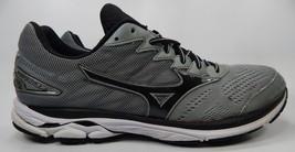 Mizuno Wave Rider 20 Running Shoes Men's Size US 13 M (D) EU 47 Silver Black