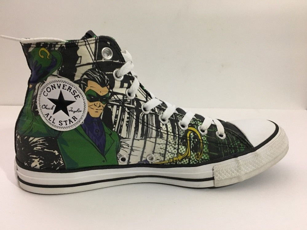 ecac7406407c Converse The Riddler High Top Tennis Shoes Men s sz 9 DC Comics batman
