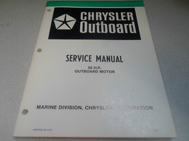 1981 Chrysler Outboard Service Manual 55 HP OEM Boat OB 3437 Outboard Mo... - $24.70