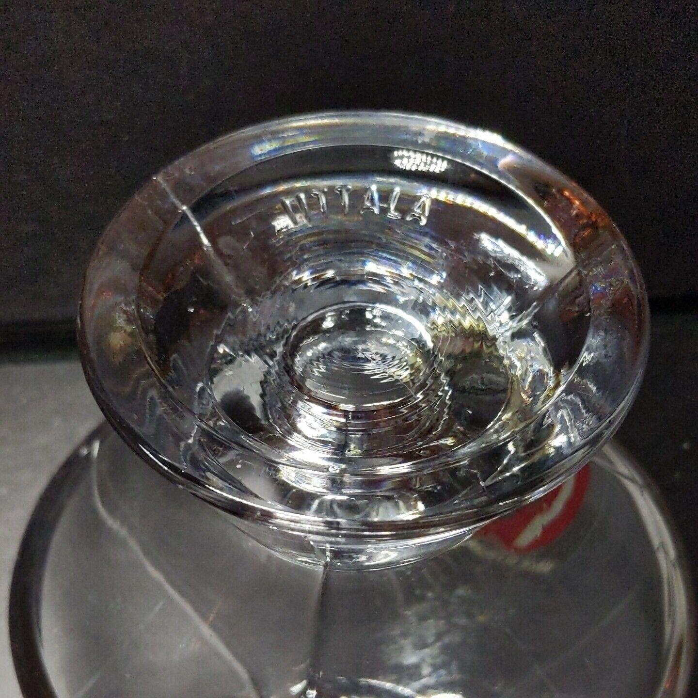 "2 (Two) iITTALA KARTIO Crystal Votive Candle Holders 3.5"" W x 2"" T-w Sticker image 2"