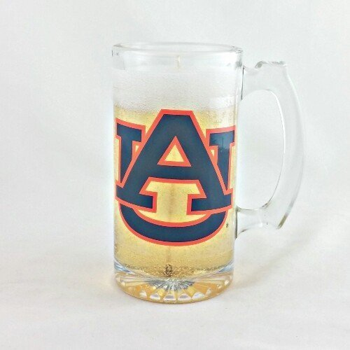 Alabama Auburn University Beer Candle - Mineral Oil Based Gel Candle MADE IN USA - $19.35