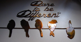 Dare to be different Copper Small Birds on a wire Metal Wall Decor - $29.69
