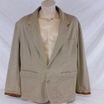 Willis & Geiger Outfitters Safari Jacket Canvas Field Leather Trim Coat ... - $99.99
