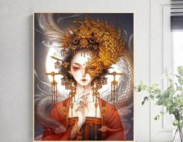 Beauty Girl  Diamond Painting  5 D Home Dector Mosaic Needlework  Diamon... - $20.00+
