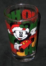Disney Mickey Mouse 'Ho Ho Ho' Glass - Anchor Hocking - No Res. - $5.95