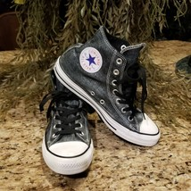 Womens Converse Chuck Taylor All Star Black Distressed Wash Hi Top Train... - $1.142,69 MXN