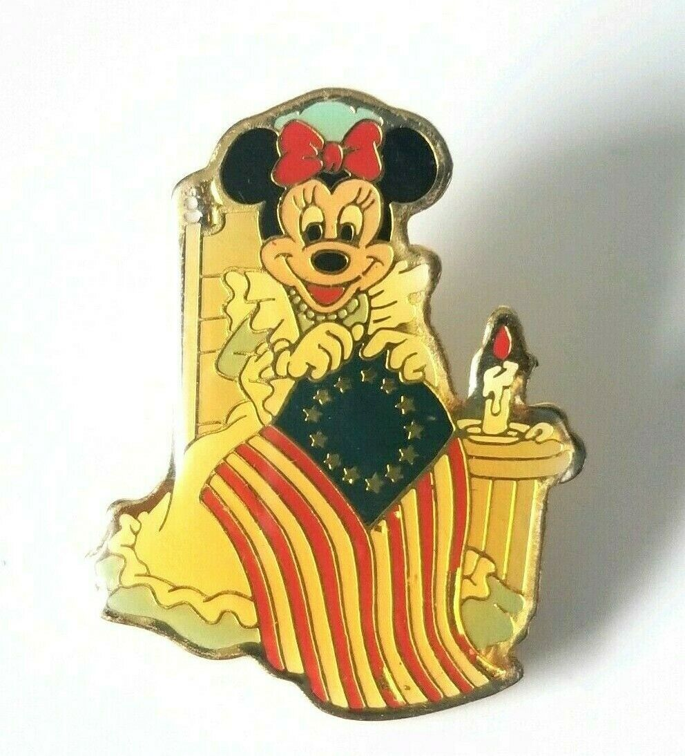 VTG Walt Disney Patriotic Pin Minnie Mouse Betsy Ross Flag Eastman Kodak 1989 - $15.60