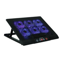 Laptop Cooling Pad Base LED 2 Stand Macbook Air Cooled Notebook Six Cool... - €55,17 EUR