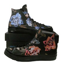 Converse Chuck Taylor All Star 70's Hi Top Black Leather Flowers Floral ... - €68,96 EUR