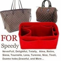 Bag Organizer Felt Cloth Insert 25 30 35 Makeup Handbag Organizer Travel... - £16.50 GBP+