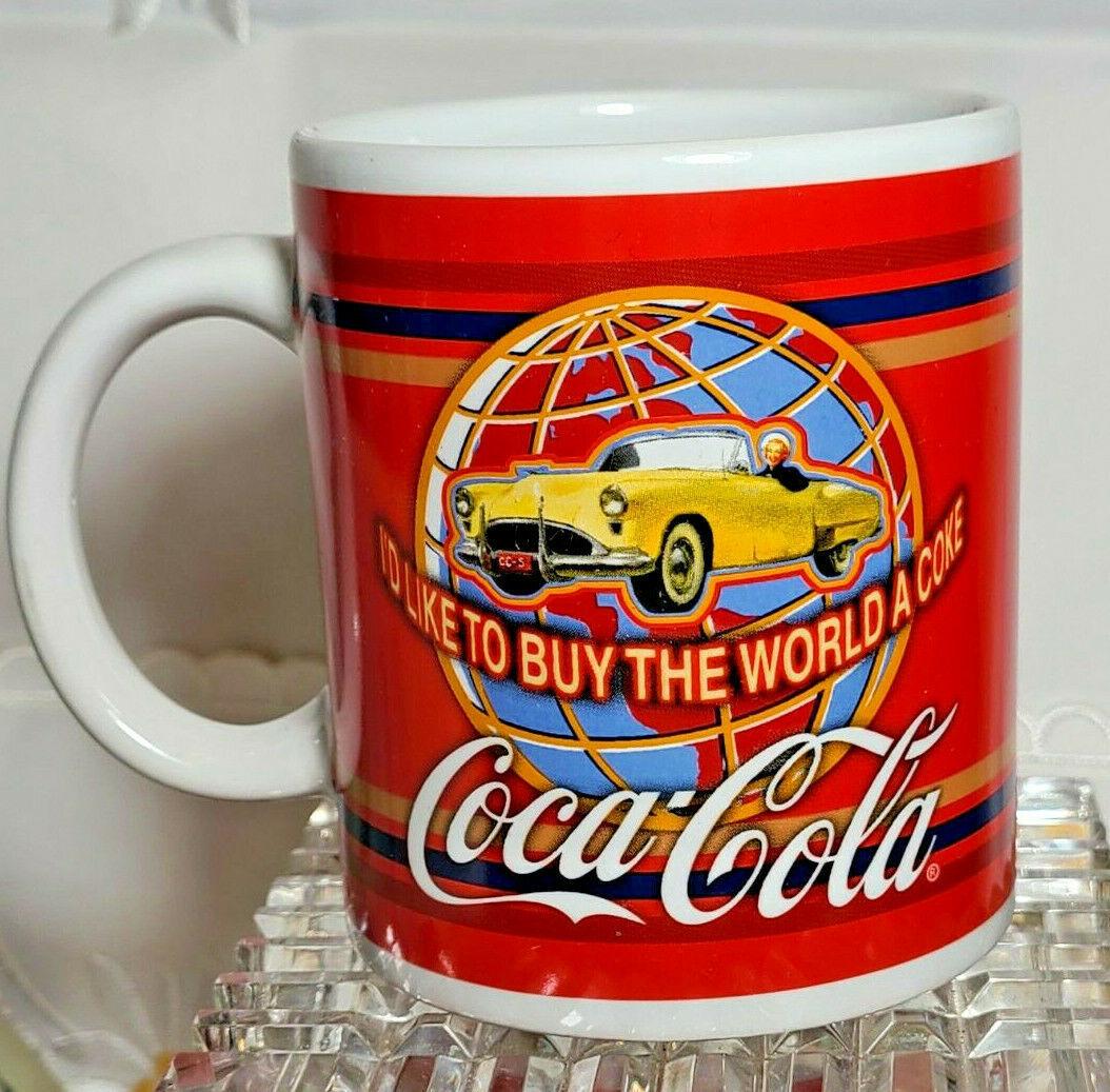 Coca Cola I'd Like To Buy The World A Coke Corvette ~ Ceramic Coffee Mug Tea Cup