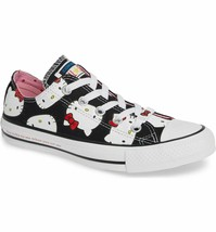 Hello Kitty x Converse Chuck Taylor All Star Low OX Black Size 6 NEW IN BOX - $126.99