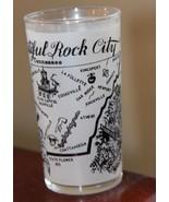 VINTAGE TENNESSEE TRAVEL SOUVENIR ROCK CITY SATIN DRINKING GLASS BAR MAP... - $29.99