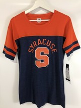 Syracuse Navy & Orange Women's Stadium Tee J America NCAA NWT SZ M - $22.12