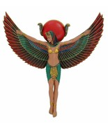 Ancient Egyptian Goddess Isis With Open Wings Decorative Wall Plaque Fig... - $39.60