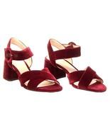 J Crew Women's Velvet Penny Sandals Ankle Strap Heels 6 K0007 Burnished ... - $82.79