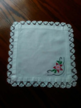 Square Crocheted and Embroidery Mat - $8.90