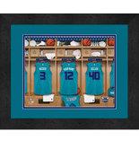 Personalized Charlotte Hornets 12 x 16 Locker Room Framed Print - $63.95
