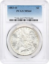 1883-O $1 PCGS MS64 - Morgan Silver Dollar - $77.60