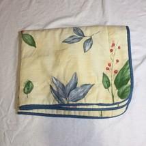 "Yellow Botanica Gazebo Pillow Sham Croscill Standard 33"" x 26"" - $14.50"