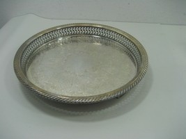 Vintage WM A Rogers Silver Plated Footed Serving Tray By Oneida Silversm... - $18.65