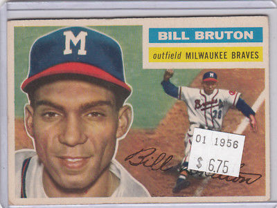 1956 Topps 185 Bill Bruton Not Graded 02