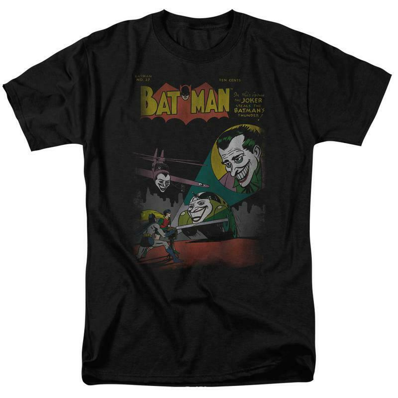 Batman joker t shirt superfriends retro classic comics 80s cartoon dc black graphic tee dco161