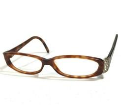 Fendi Eyeglass Frames Brown Tortoise Rectangular Oval Side Logos F697 214 135 - $37.40