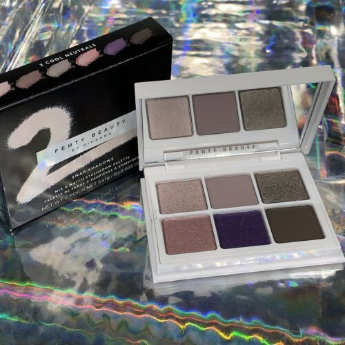NIB Fenty Beauty Snap Shadows 2 Cool Neutrals Gr8 For On The Go
