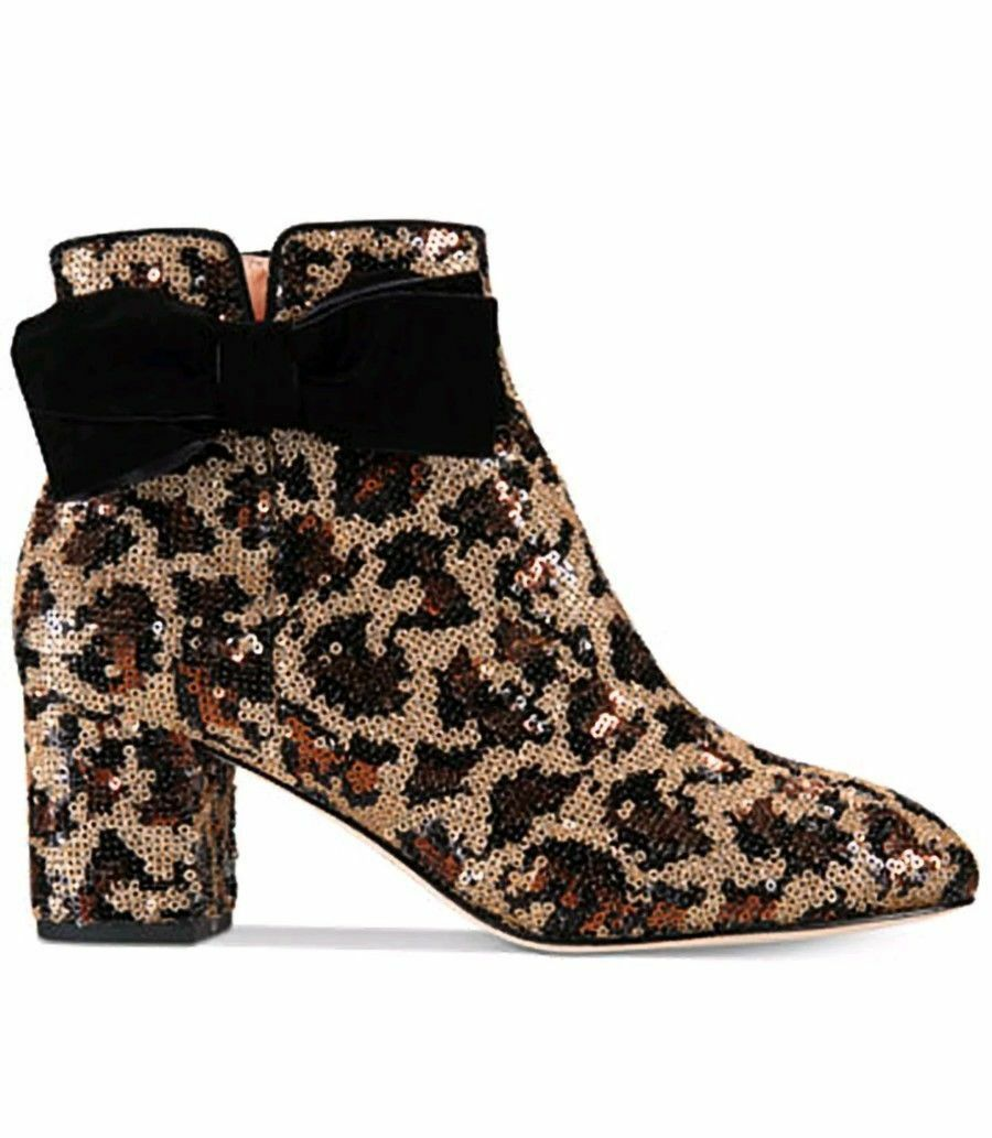 kate spade new york Leopard Print Langley Bow Booties $350 Mult Sz image 2