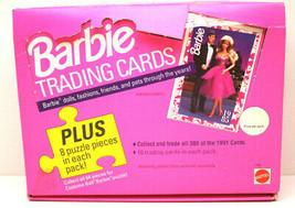 Vintage1991 Mattel Trading Card Box Barbie Doll  21 Packs 10 Cards Per P... - $42.06
