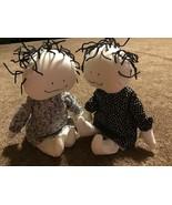 "Friends Cloth Plush Rag Blonde Doll Set 16"" Black & White Wirey Hair Han... - $29.69"