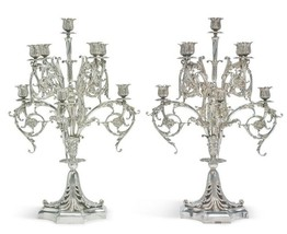 Tiffany and Co Sterling Silver 9-Light Candelabra Set Paris Exposition 1900 - $149,000.00