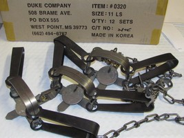 6 Duke #11 LongSpring Foothold Traps Mink  Muskrat Gopher Trap coon0320 NEW SALE
