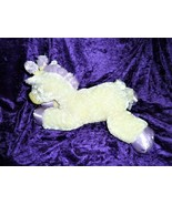 Aurora Baby Yellow Purple Lavender Stuffed Plush Giraffe Satin Feet Hoov... - $98.99