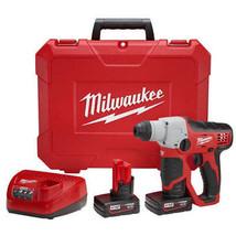 "Milwaukee M12 12V Li-Ion 1/2"" SDS Plus Rotary Hammer Kit 2412-22XC New - $399.99"