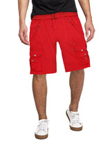 Men's Belted Casual Cotton Multi Pocket Cargo Shorts With Metal Embellishments image 2