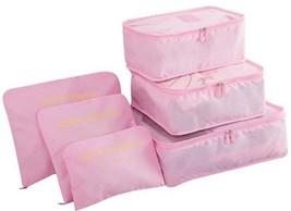 6 PC Luggage Bag Set Travel Accessory Packing Cube Storage Organizer Pou... - $298,06 MXN