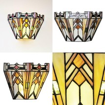 3-Watt Multi-Colored Mission Stained Glass Integrated Led Sconce - $147.90
