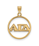 Ss/Gold Plated Sterling Silver With Gp Logoart Alpha Gamma Delta Large C... - $33.57